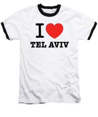 i love Tel Aviv Baseball T-Shirt