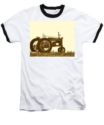 Old Tractor IIi In Sepia Baseball T-Shirt