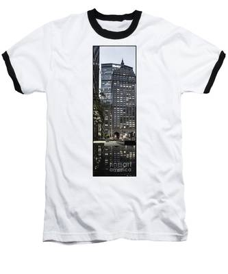 Park Avenue Met Life Nyc Baseball T-Shirt by Juergen Held