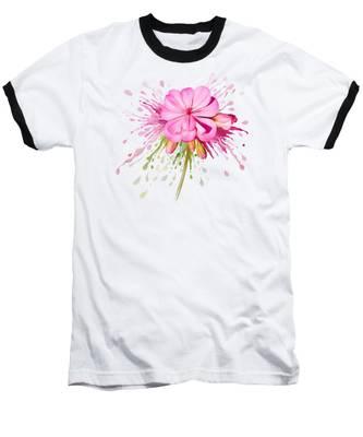Pink Eruption Baseball T-Shirt