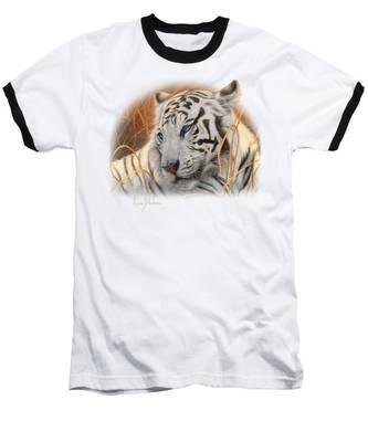 Portrait White Tiger 1 Baseball T-Shirt