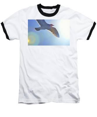 Racing The Sun Baseball T-Shirt by Andrea Platt