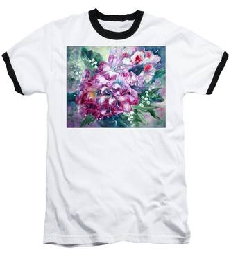 Rhododendron And Lily Of The Valley Baseball T-Shirt