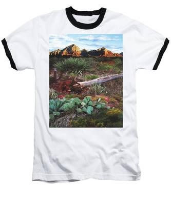 Sedona Mountain Sunrise Baseball T-Shirt