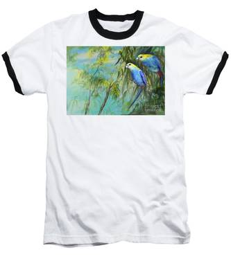 Two Pale-faced Rosellas Baseball T-Shirt