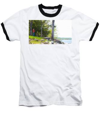 Waiting Ashore Baseball T-Shirt