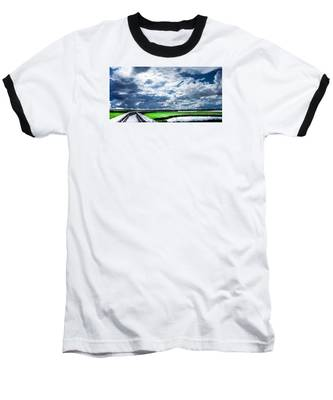 Walk With Me In The Sky Baseball T-Shirt