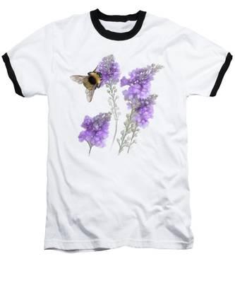 Watercolor Bumble Bee Baseball T-Shirt
