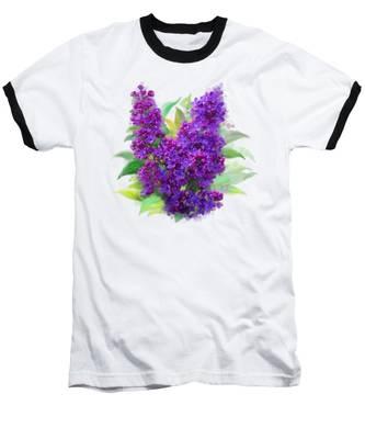 Watercolor Lilac Baseball T-Shirt