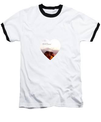Wild Moorland Ponies Baseball T-Shirt