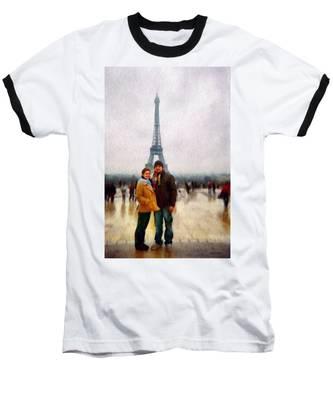 Winter Honeymoon In Paris Baseball T-Shirt