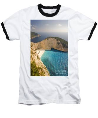 Baseball T-Shirt featuring the photograph Zakynthos Beach by Juergen Held