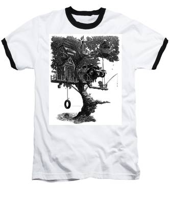 Lake Front Dream House Baseball T-Shirt