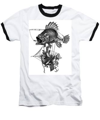 Bass Airship Baseball T-Shirt