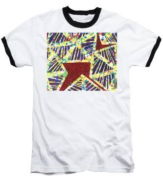 Colourful Webs  Baseball T-Shirt