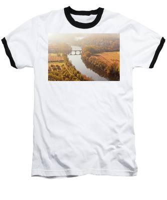 Dordogne River In The Mist Baseball T-Shirt