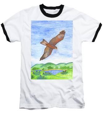 Flying Hawk Baseball T-Shirt