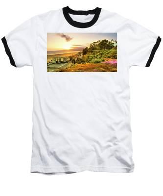 Orange Haze At Sunset Baseball T-Shirt