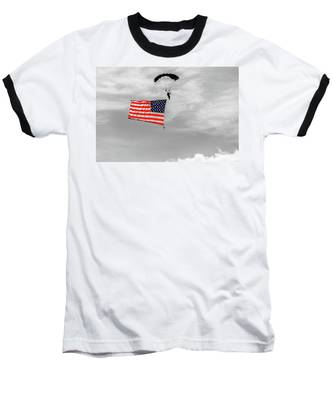 Socom Flag Jump In Selective Color Baseball T-Shirt