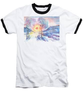 Sunny Winter Morning Baseball T-Shirt