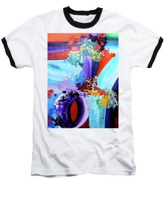 Watery Waves Baseball T-Shirt