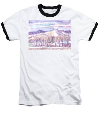 Winter Sunrise On A Frosty River Baseball T-Shirt