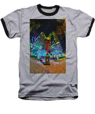 Nightlife Around Charlotte During Christmas Baseball T-Shirt