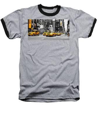Nyc Yellow Cabs - Ck Baseball T-Shirt