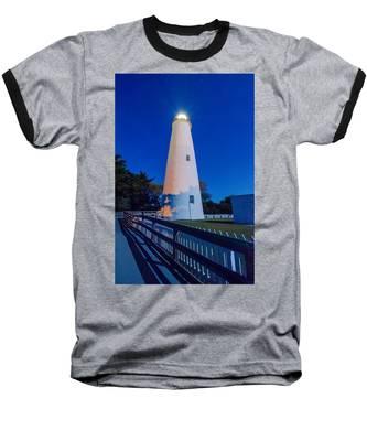 The Ocracoke Lighthouse On Ocracoke Island On The North Carolina Baseball T-Shirt