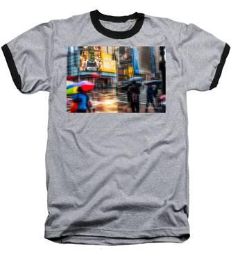A Rainy Day In New York Baseball T-Shirt
