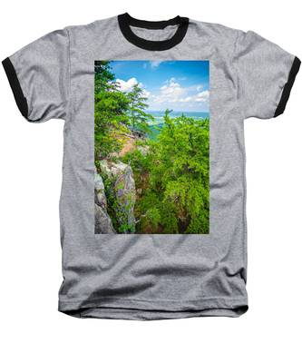 Beautiful Aerial Landscape Views From Crowders Mountain North Ca Baseball T-Shirt
