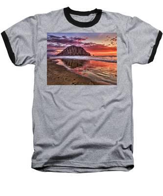 Crimson Sunset Baseball T-Shirt