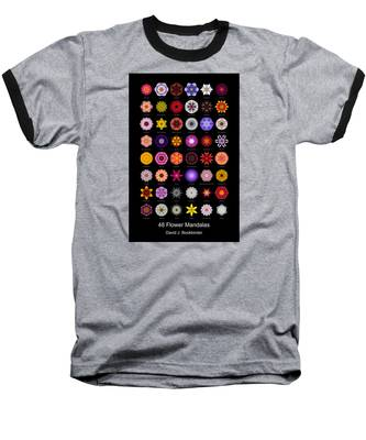 48 Flower Mandalas Baseball T-Shirt