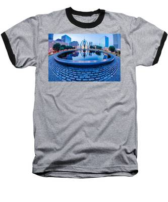 St. Louis Downtown Skyline Buildings At Night Baseball T-Shirt
