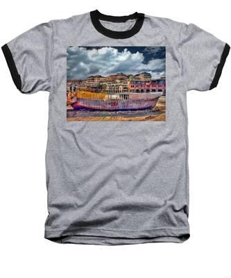 A Genesis Sunrise Over The Old City Baseball T-Shirt