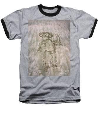 Alien On The Beach Baseball T-Shirt
