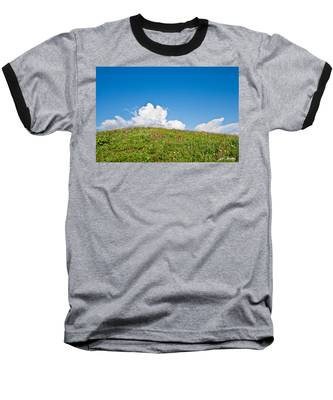 Alpine Meadow And Cloud Formation Baseball T-Shirt