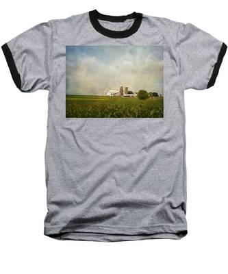 Amish Farmland Baseball T-Shirt