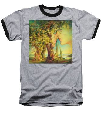 An Encounter At The Edge Of The Forest Baseball T-Shirt