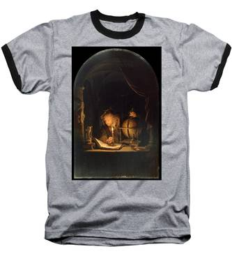 Astronomer By Candlelight Baseball T-Shirt