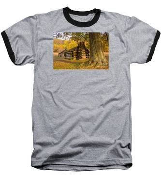 Autumn And The Huts At Valley Forge Baseball T-Shirt