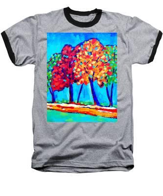 Autumn Trees Baseball T-Shirt