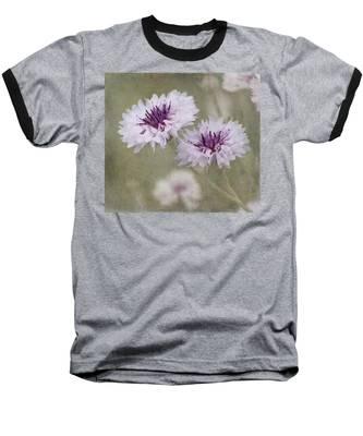 Bachelor Buttons - Flowers Baseball T-Shirt
