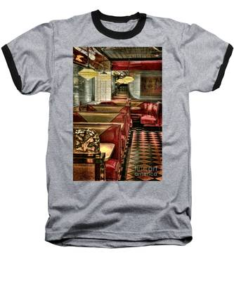 Back To The Fifties Baseball T-Shirt by Lois Bryan