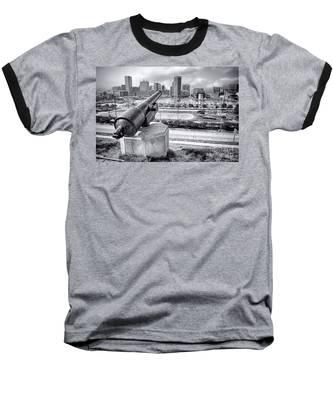 Baltimore Inner Harbor Skyline Baseball T-Shirt