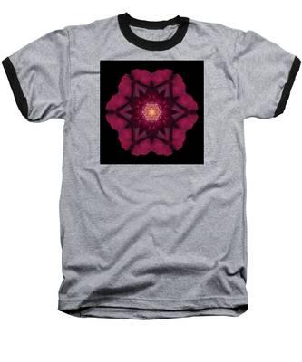 Beach Rose I Flower Mandala Baseball T-Shirt
