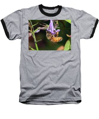 Bee With Flower Baseball T-Shirt