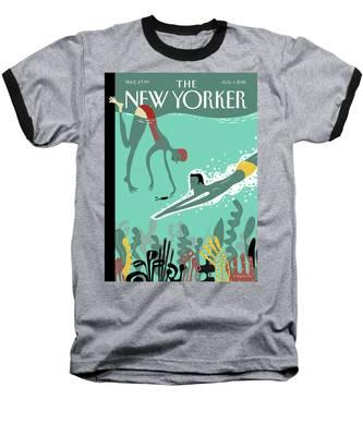 Beneath The Waves Baseball T-Shirt