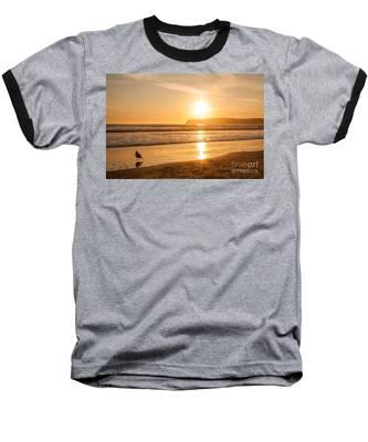 Bird And His Sunset Baseball T-Shirt