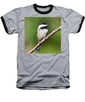 Black Capped Chickadee Baseball T-Shirt